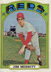 1972 Topps Baseball Cards      738     Jim Merritt